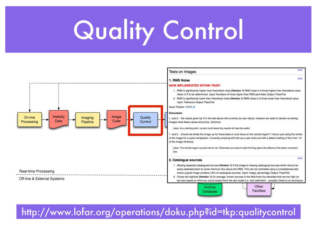 Quality Control MonetDB Database Imaging Pipeli...