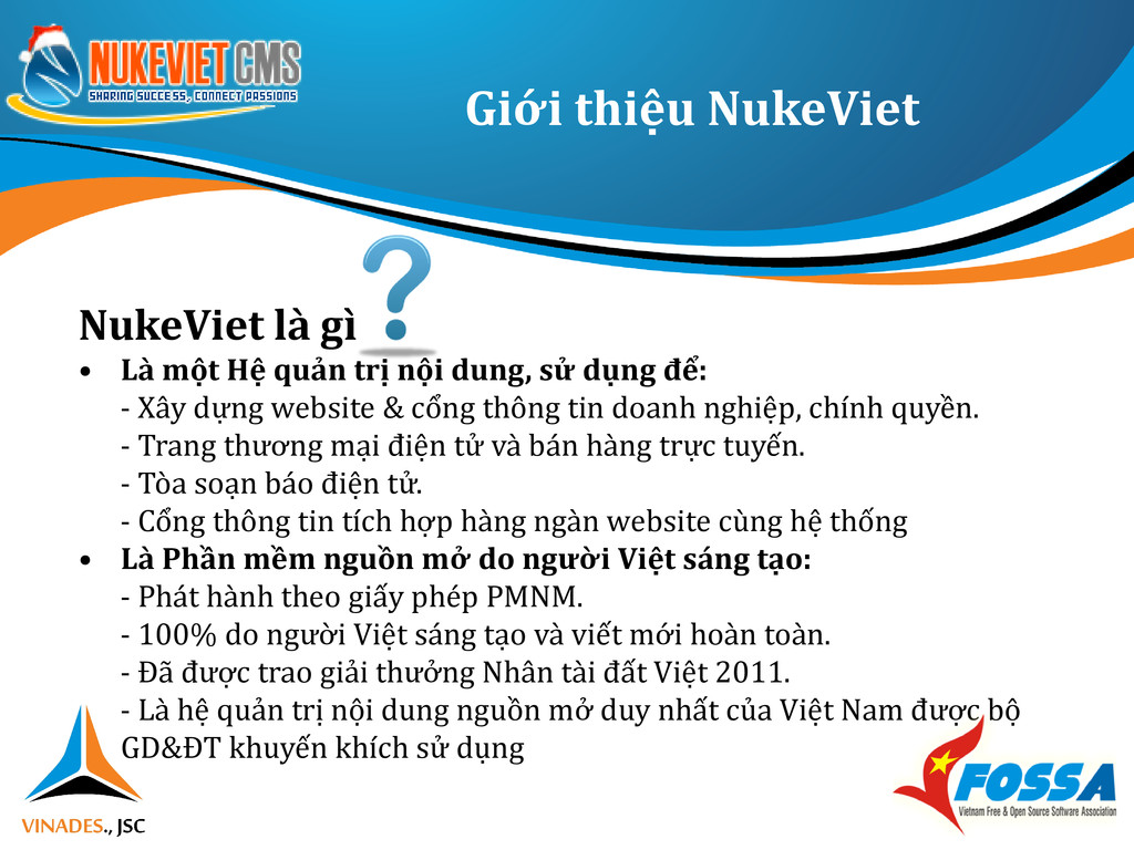 Giới thiệu NukeViet NukeViet là gì • Là một Hệ ...