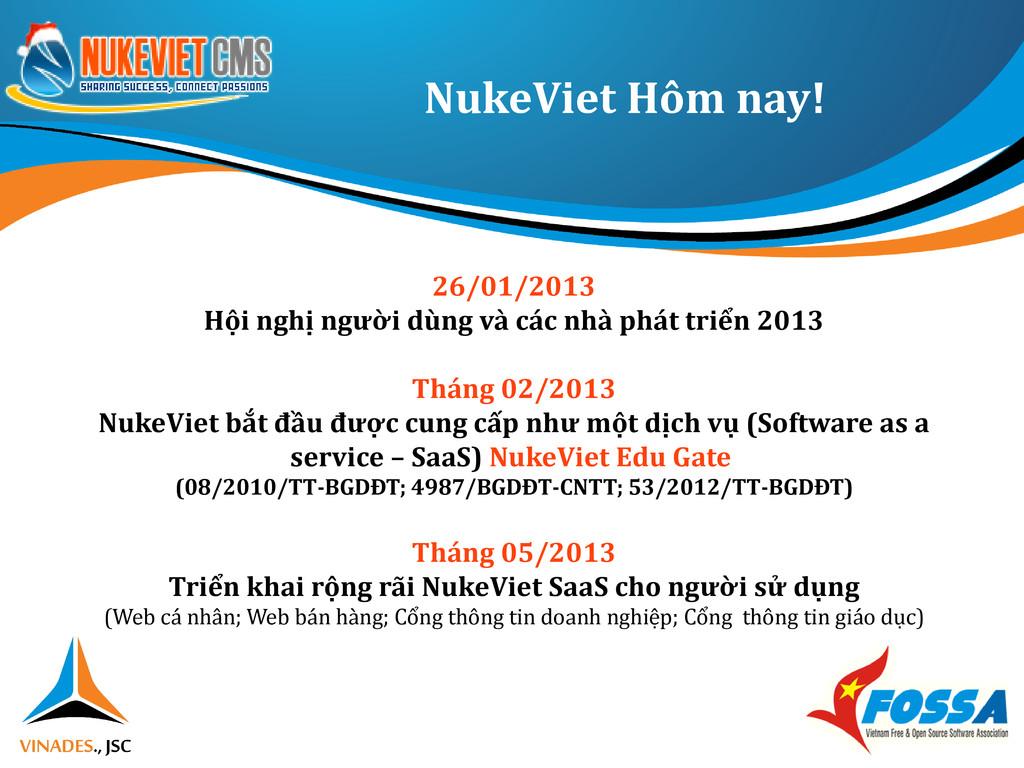 NukeViet Hôm nay! 26/01/2013 Hội nghị người dùn...