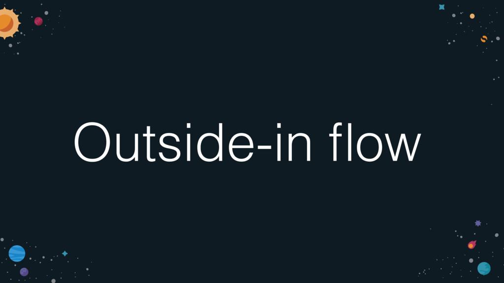 Outside-in flow