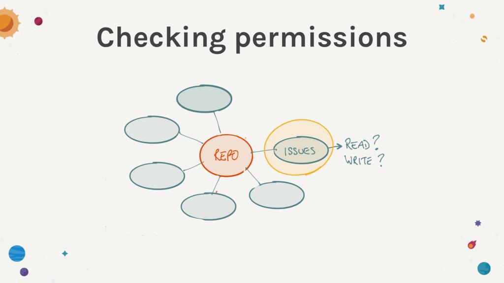 Checking permissions