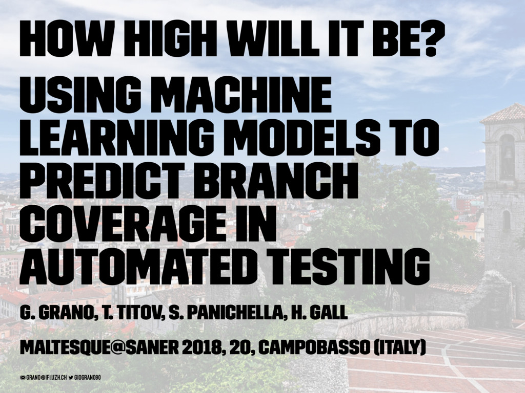 How High Will It Be? Using Machine Learning Mod...