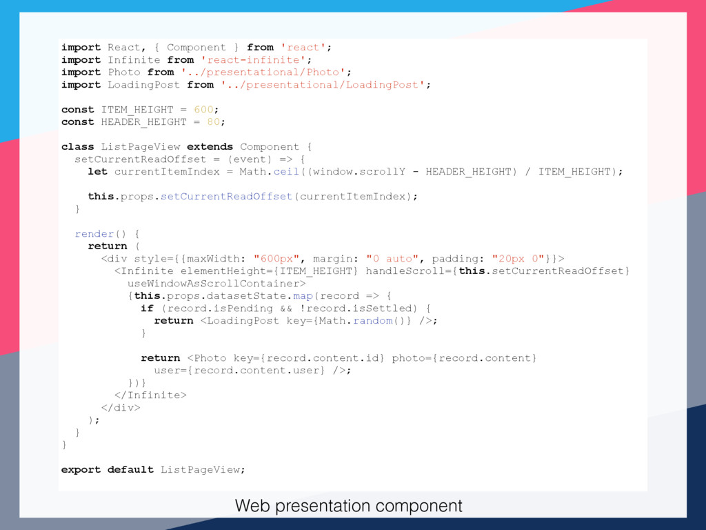 t import React, { Component } from 'react'; imp...