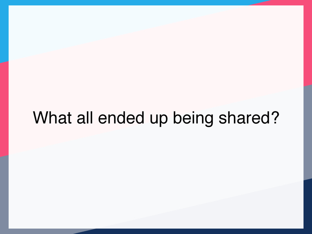What all ended up being shared?
