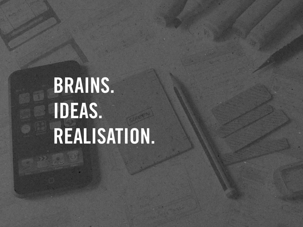 BRAINS. IDEAS. REALISATION.