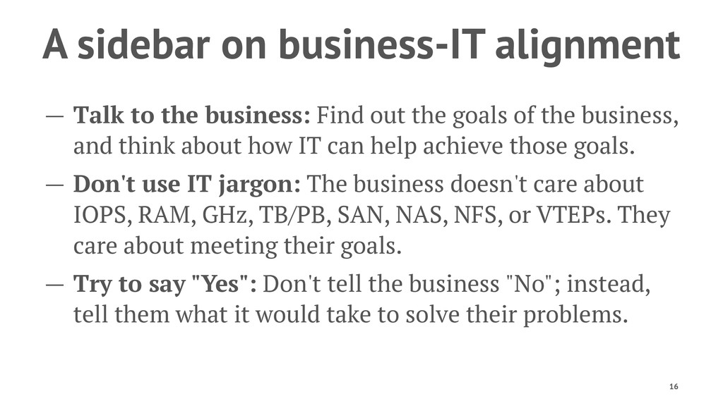A sidebar on business-IT alignment — Talk to th...