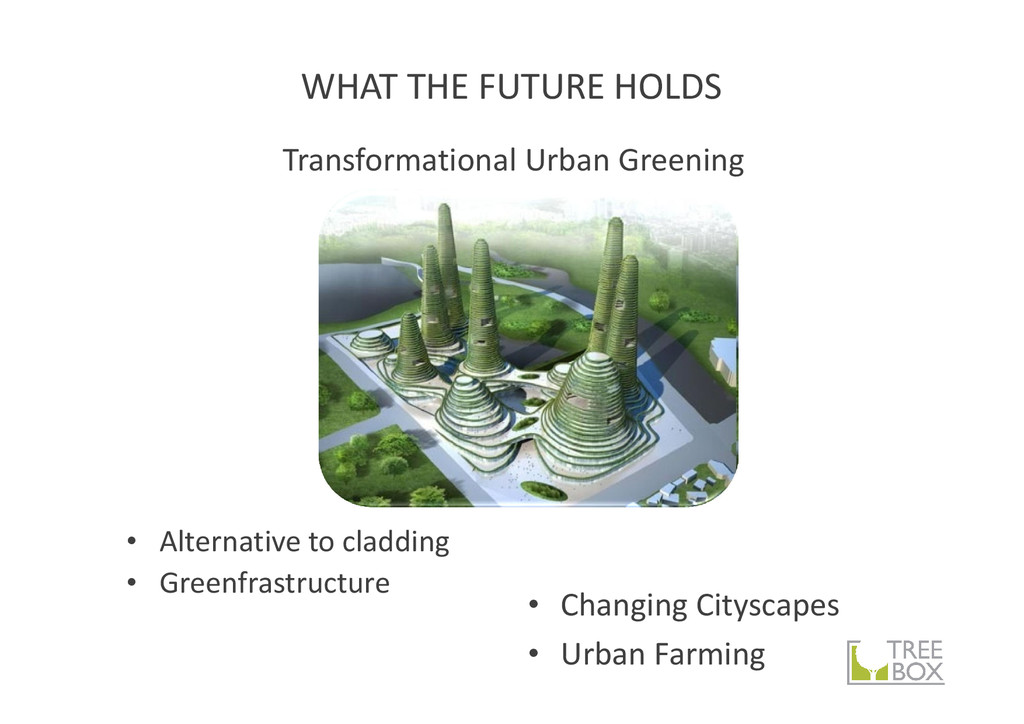WHAT THE FUTURE HOLDS • Alternative to cladding...