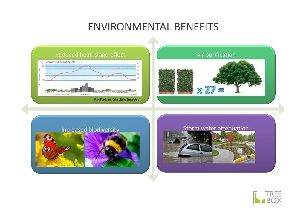 ENVIRONMENTAL BENEFITS Reduced heat island effe...