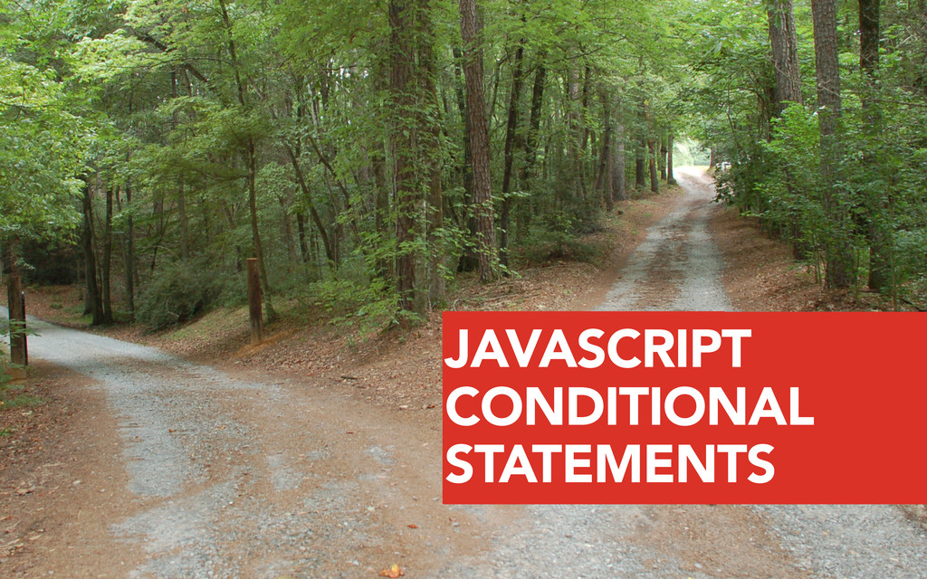 YOU CAN JAVASCRIPT CONDITIONAL STATEMENTS