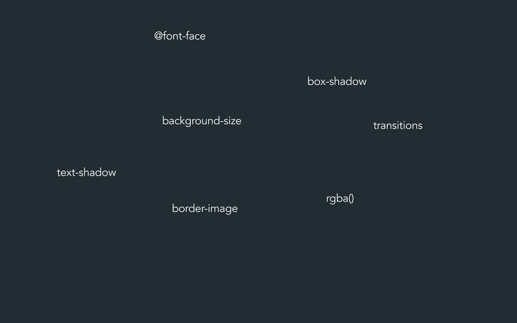 @font-face background-size border-image box-sha...