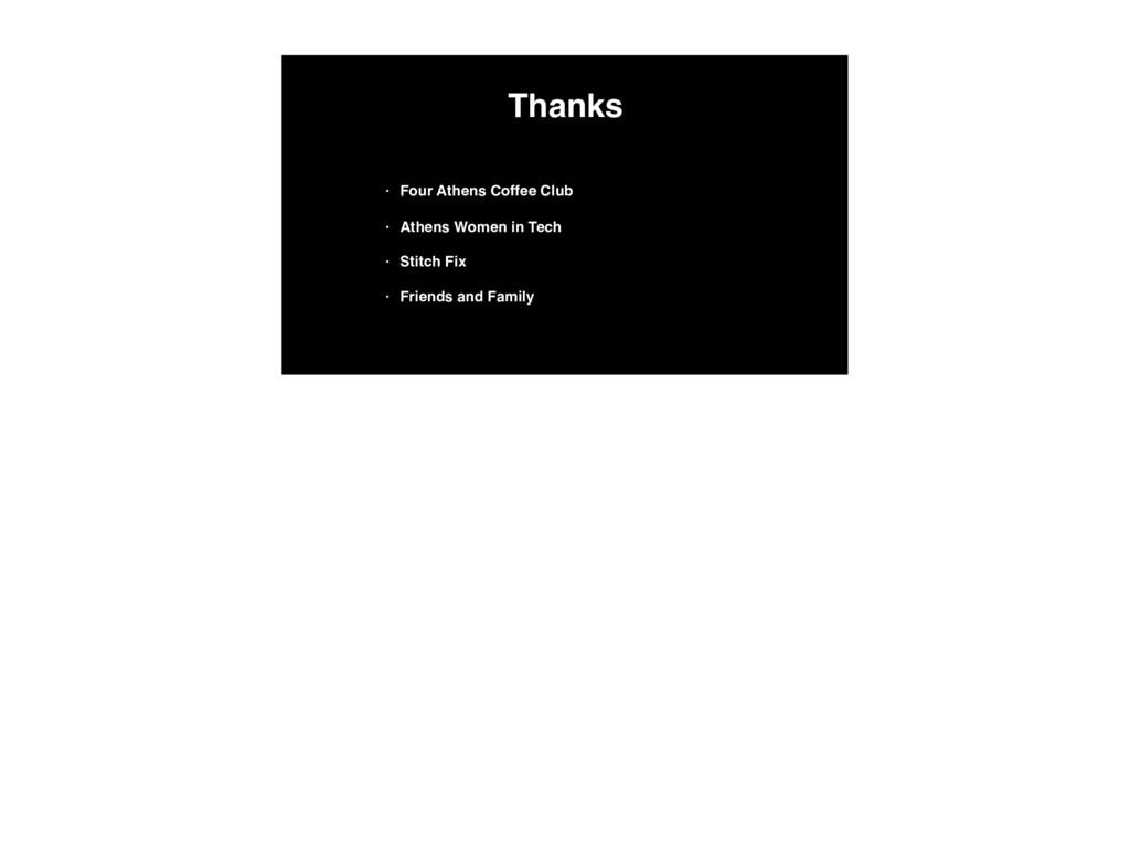 Thanks • Four Athens Coffee Club • Athens Women...