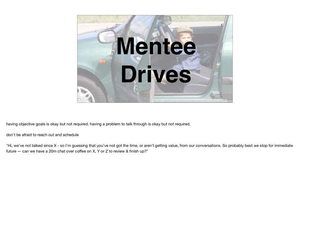 """Mentee Drives """"Young driver"""" by Leonid Mamchenk..."""