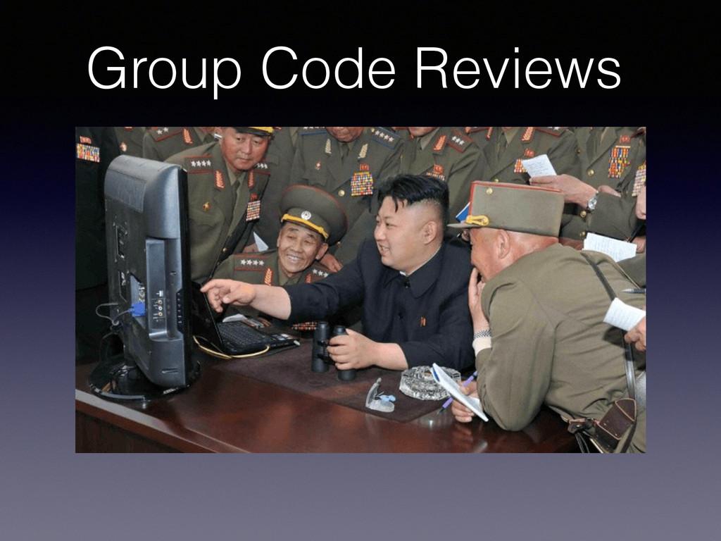 Group Code Reviews