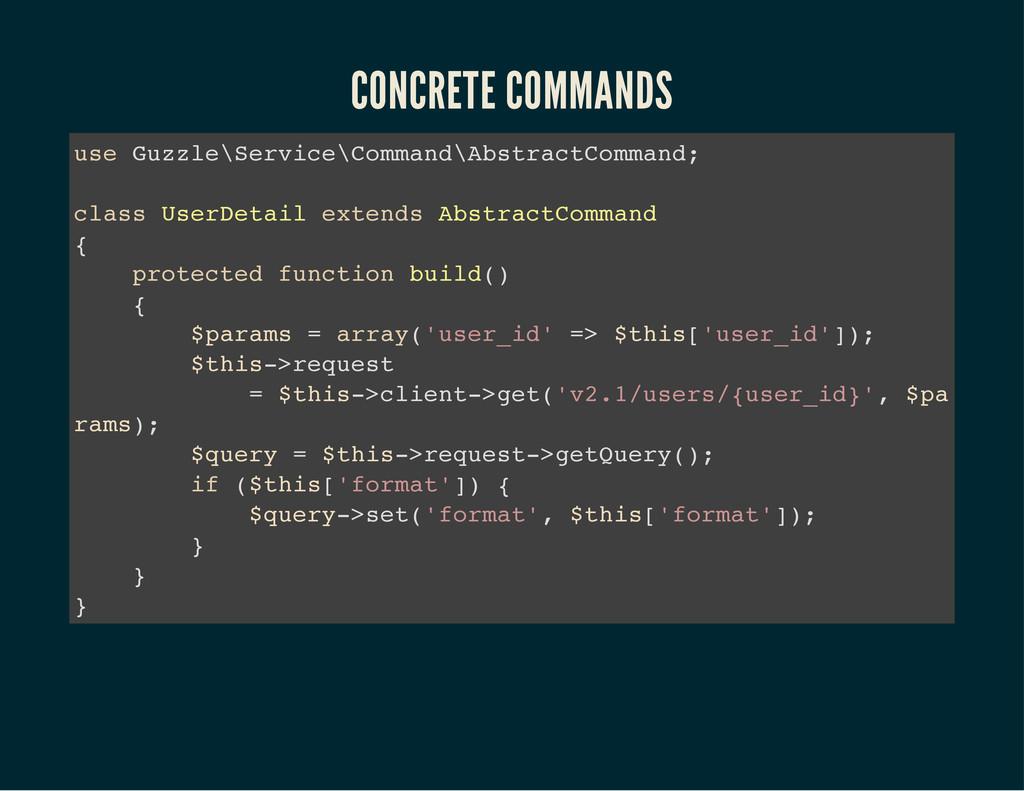 CONCRETE COMMANDS u s e G u z z l e \ S e r v i...