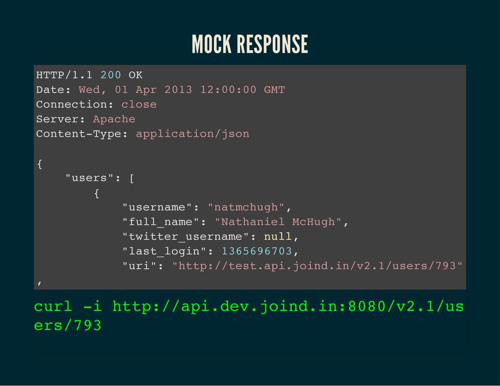 MOCK RESPONSE H T T P / 1 . 1 2 0 0 O K D a t e...