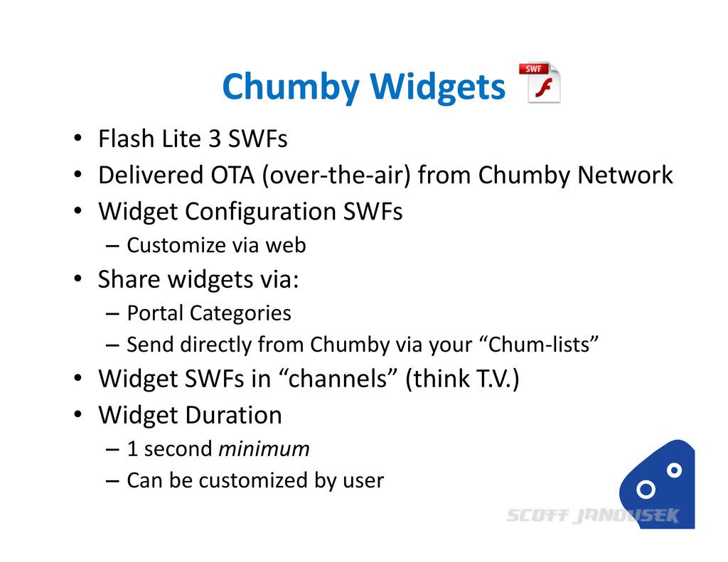 Chumby Widgets • Flash Lite 3 SWFs • Delivered ...