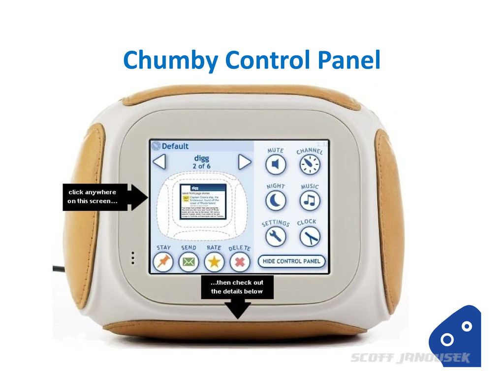 Chumby Control Panel