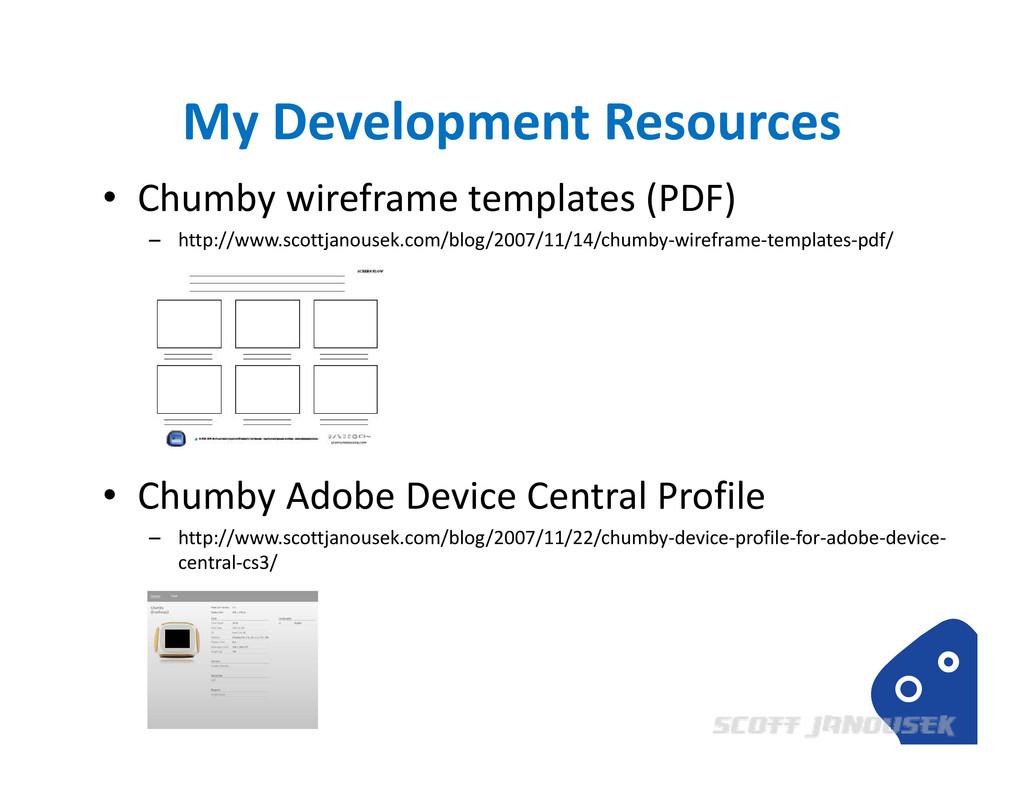 My Development Resources • Chumby wireframe tem...