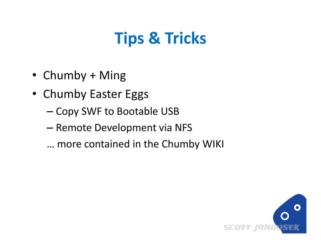 Tips & Tricks • Chumby + Ming • Chumby Easter E...