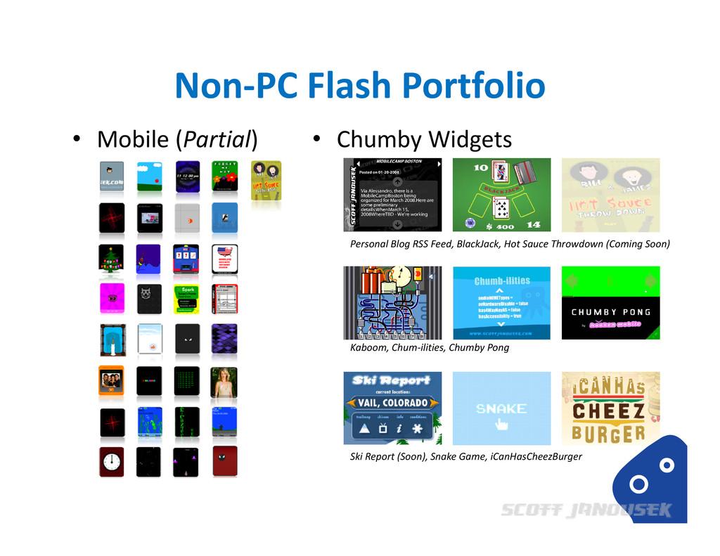 Non‐PC Flash Portfolio • Mobile (Partial) • Chu...