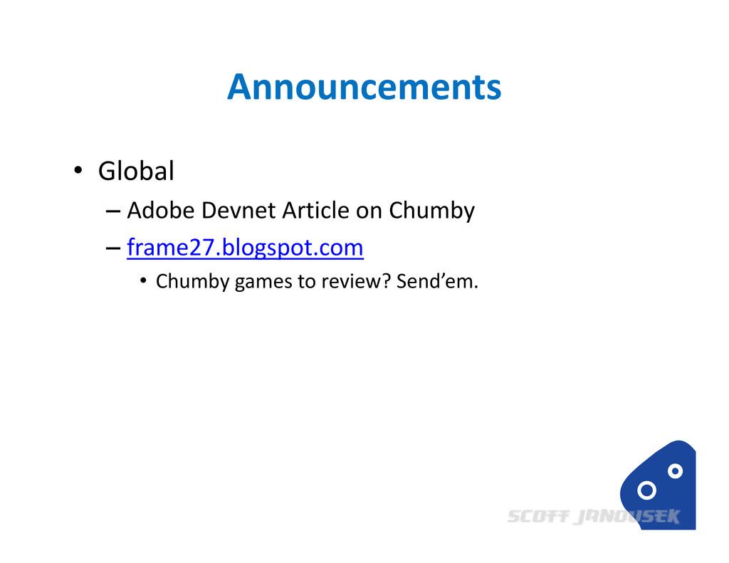 Announcements • Global – Adobe Devnet Article o...