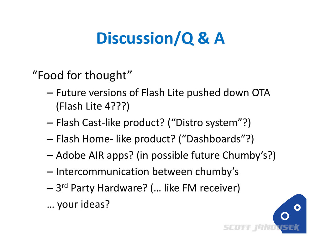 """Discussion/Q & A """"Food for thought"""" – Future ve..."""