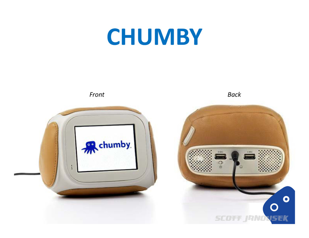CHUMBY Front Back