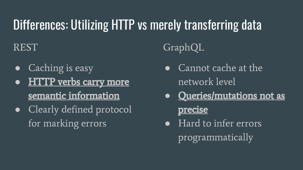 Differences: Utilizing HTTP vs merely transferr...