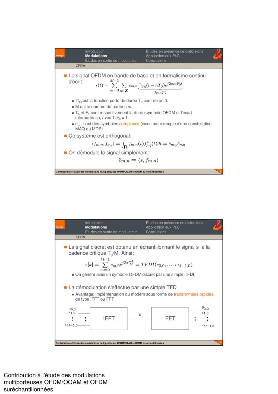 Contribution à l'étude des modulations multipor...