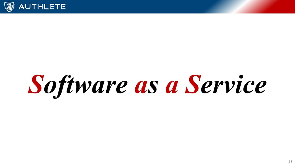 Software as a Service 13