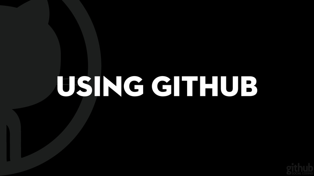 Using GitHub