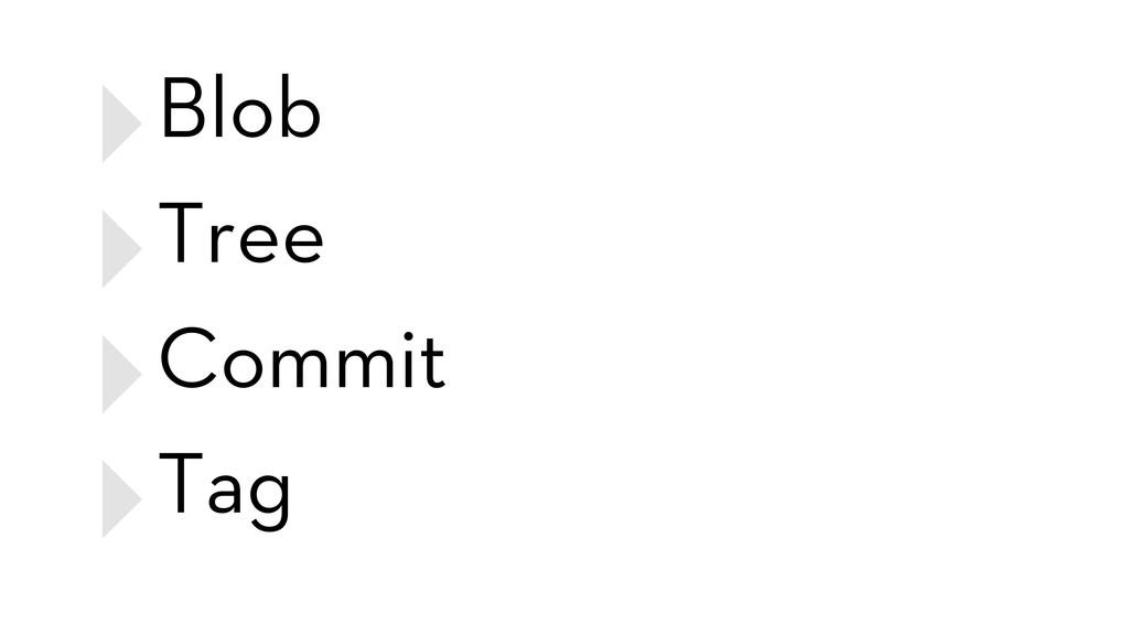 ‣Blob ‣Tree ‣Commit ‣Tag