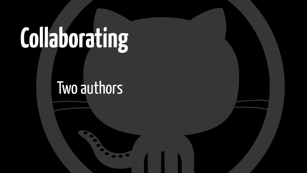 Collaborating Two authors