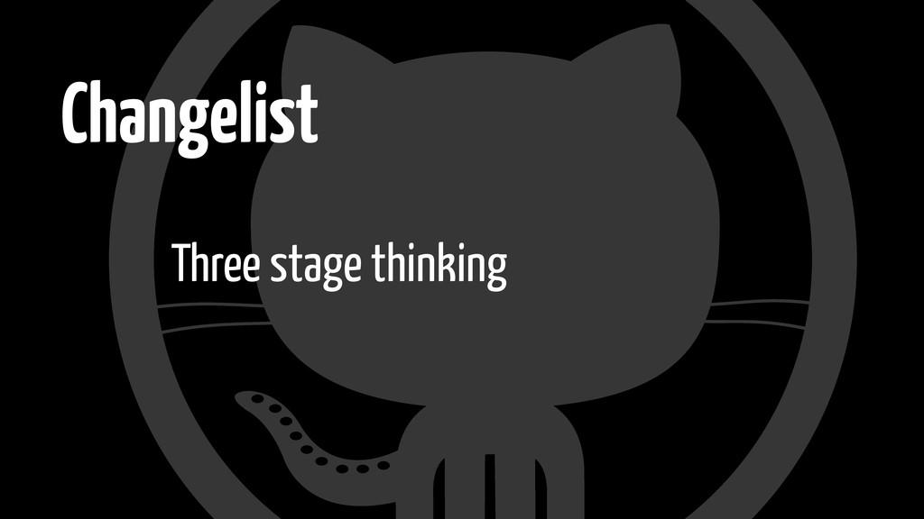 Changelist Three stage thinking