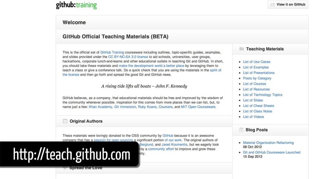 http://teach.github.com
