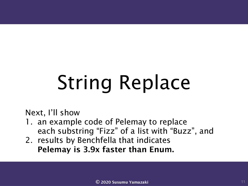String Replace Next, I'll show 1. an example co...