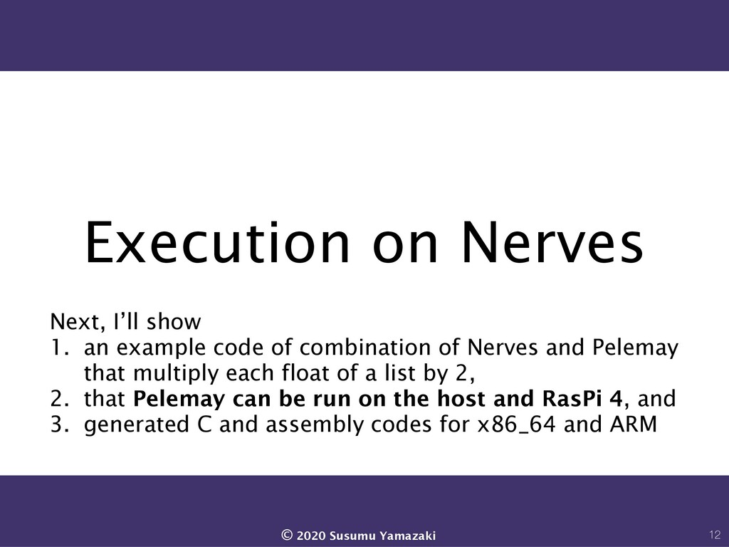 Execution on Nerves Next, I'll show 1. an examp...