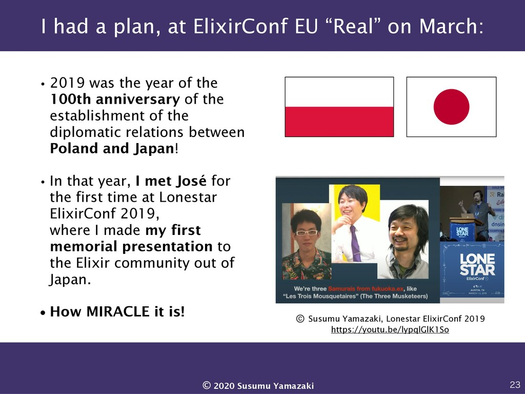 """I had a plan, at ElixirConf EU """"Real"""" on March:..."""
