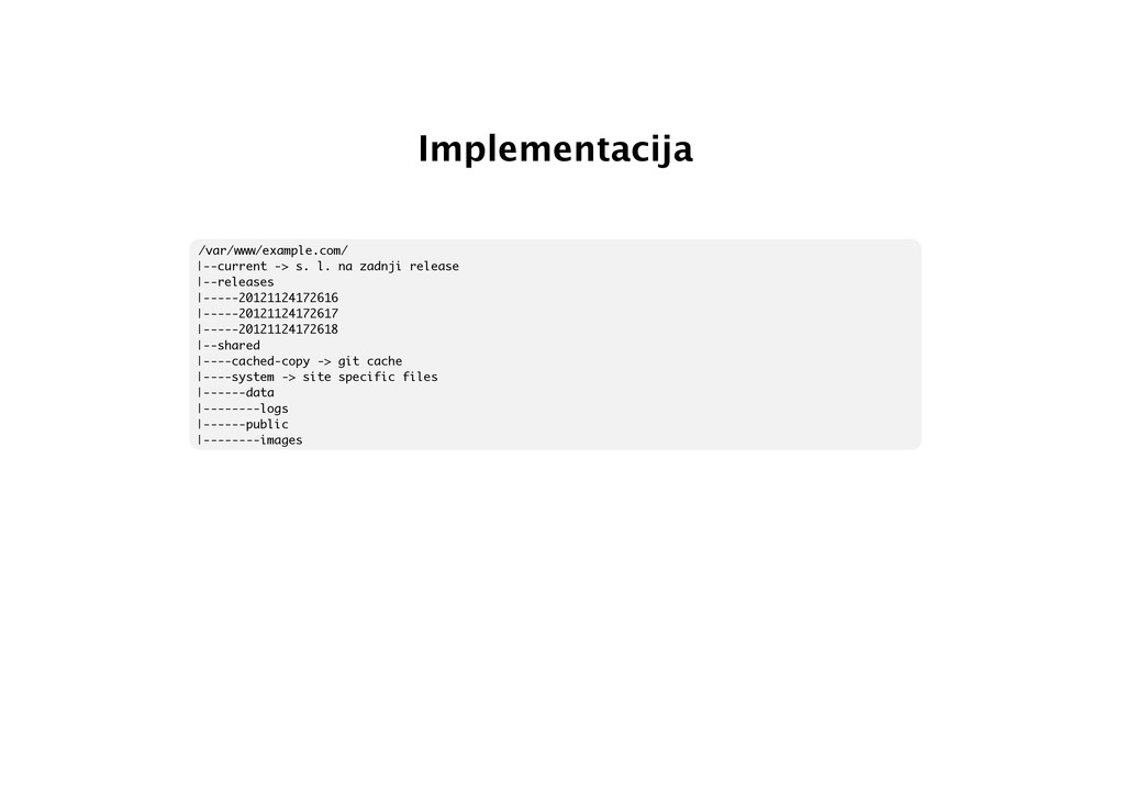 Implementacija /var/www/example.com/ |--current...