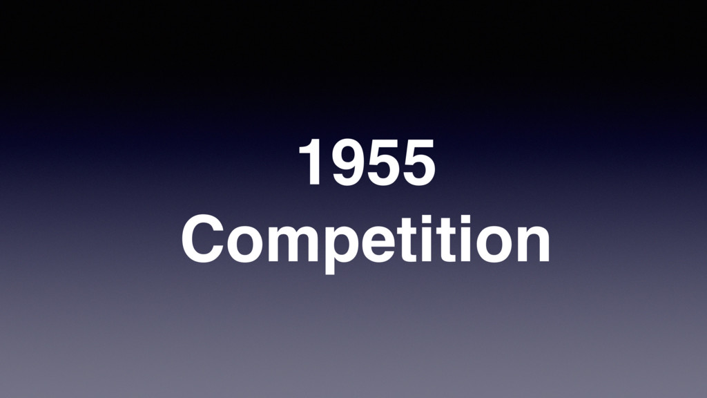 1955 Competition