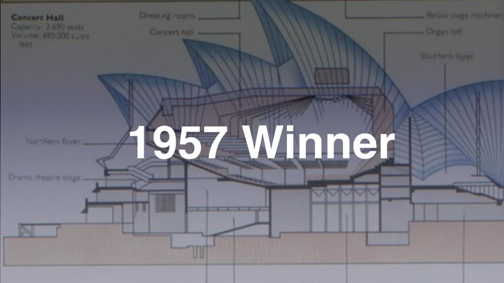 1957 Winner