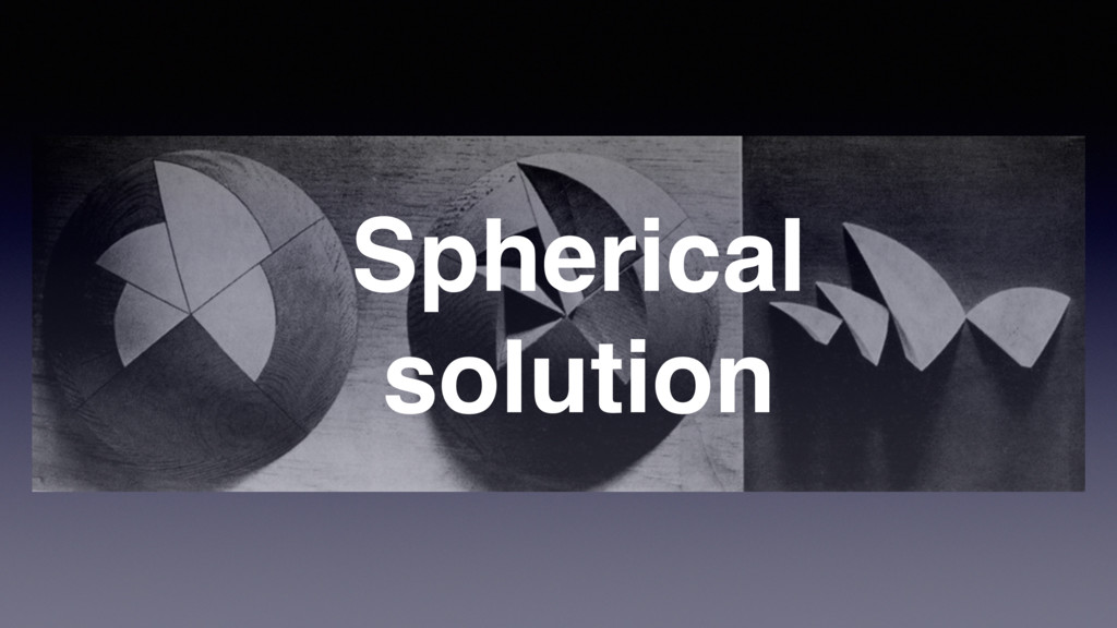 Spherical solution