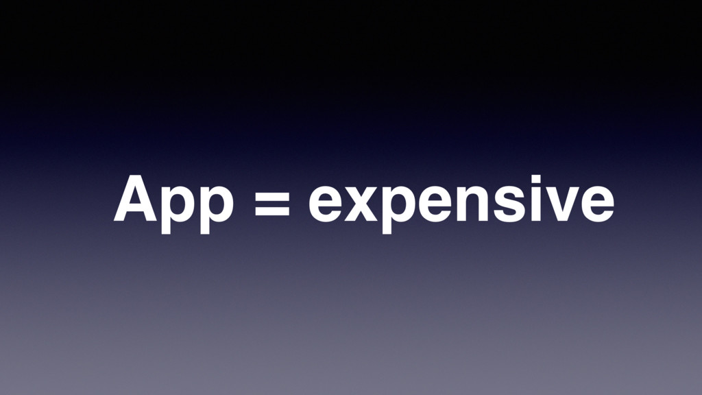App = expensive