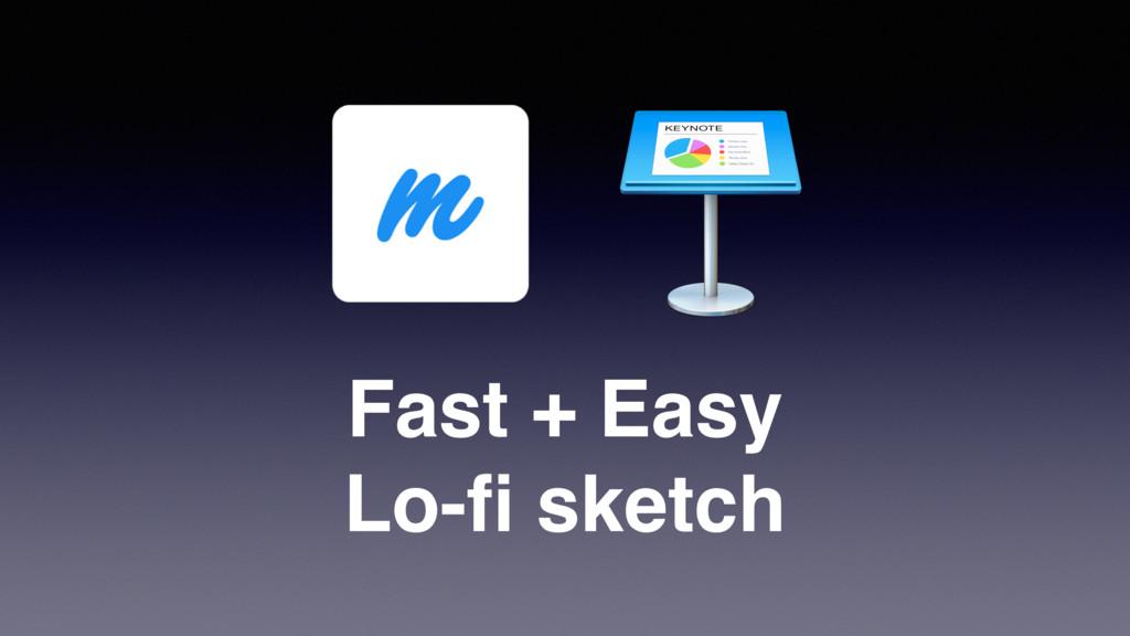 Fast + Easy Lo-fi sketch