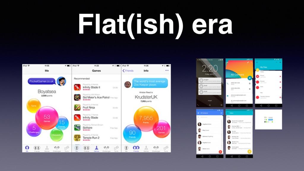 Flat(ish) era