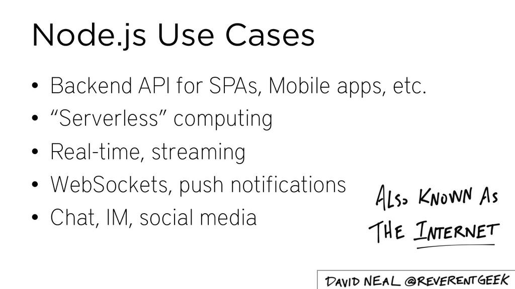 """• Backend API for SPAs, Mobile apps, etc. • """"Se..."""