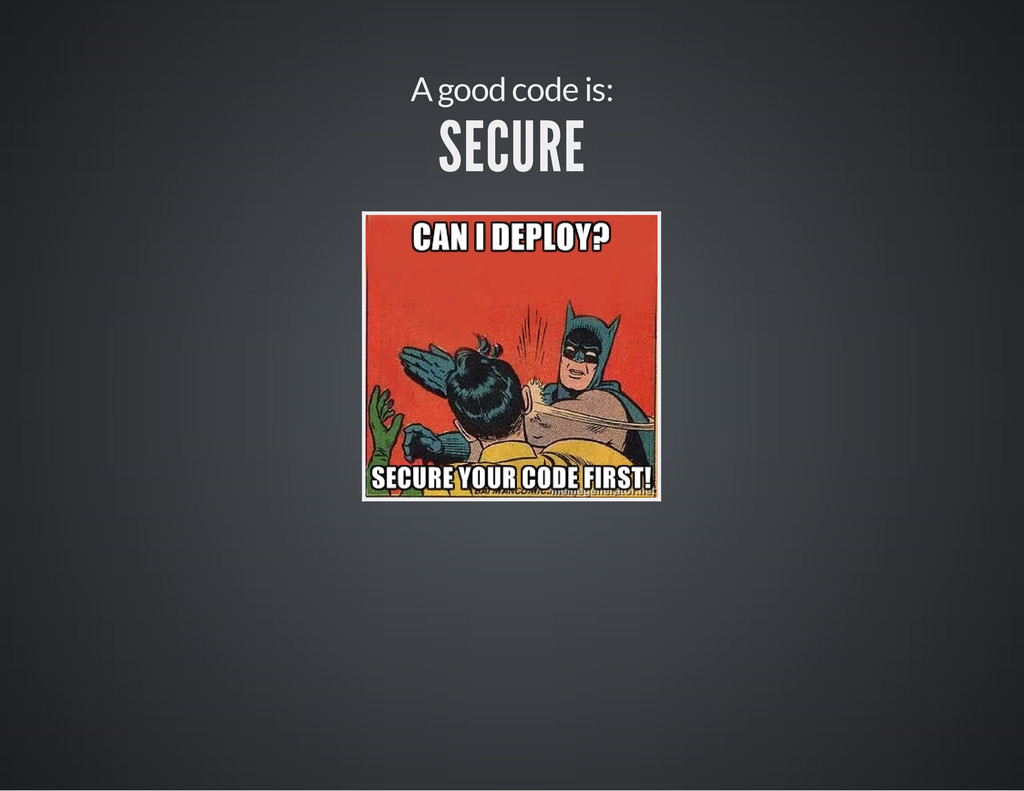 A good code is: SECURE