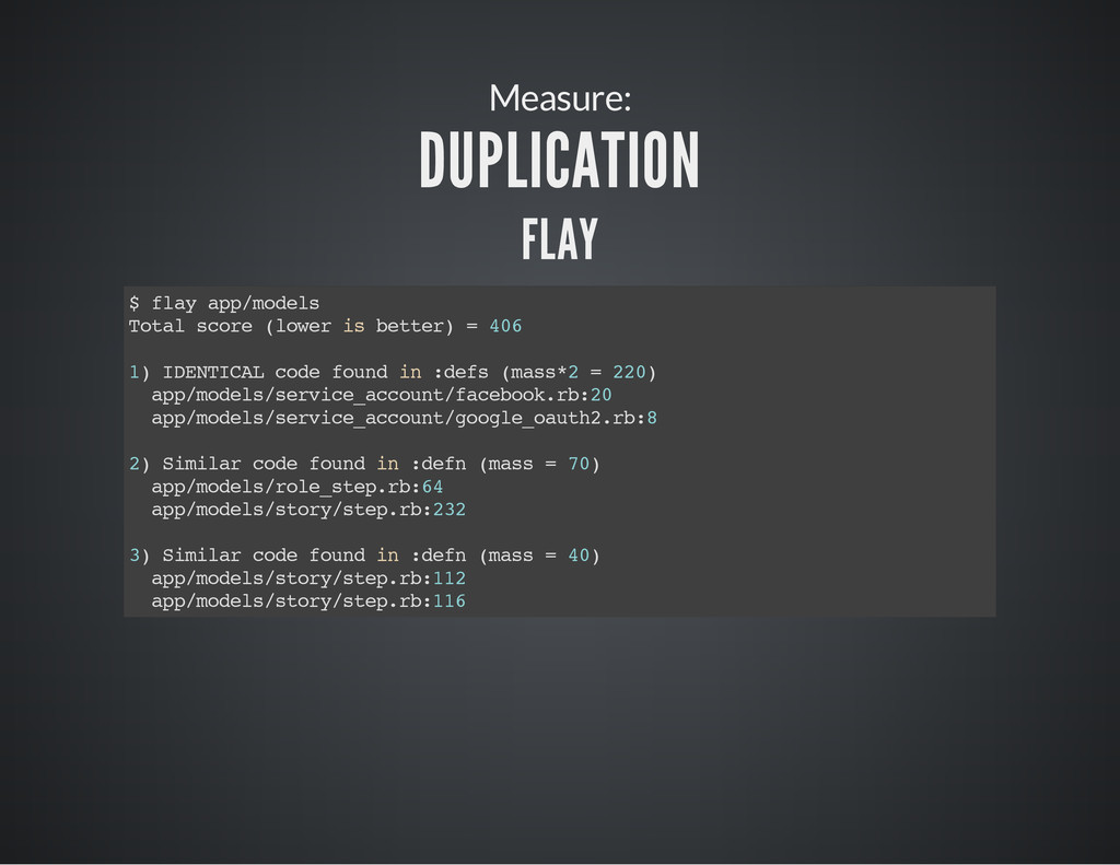 Measure: DUPLICATION FLAY $ f l a y a p p / m o...