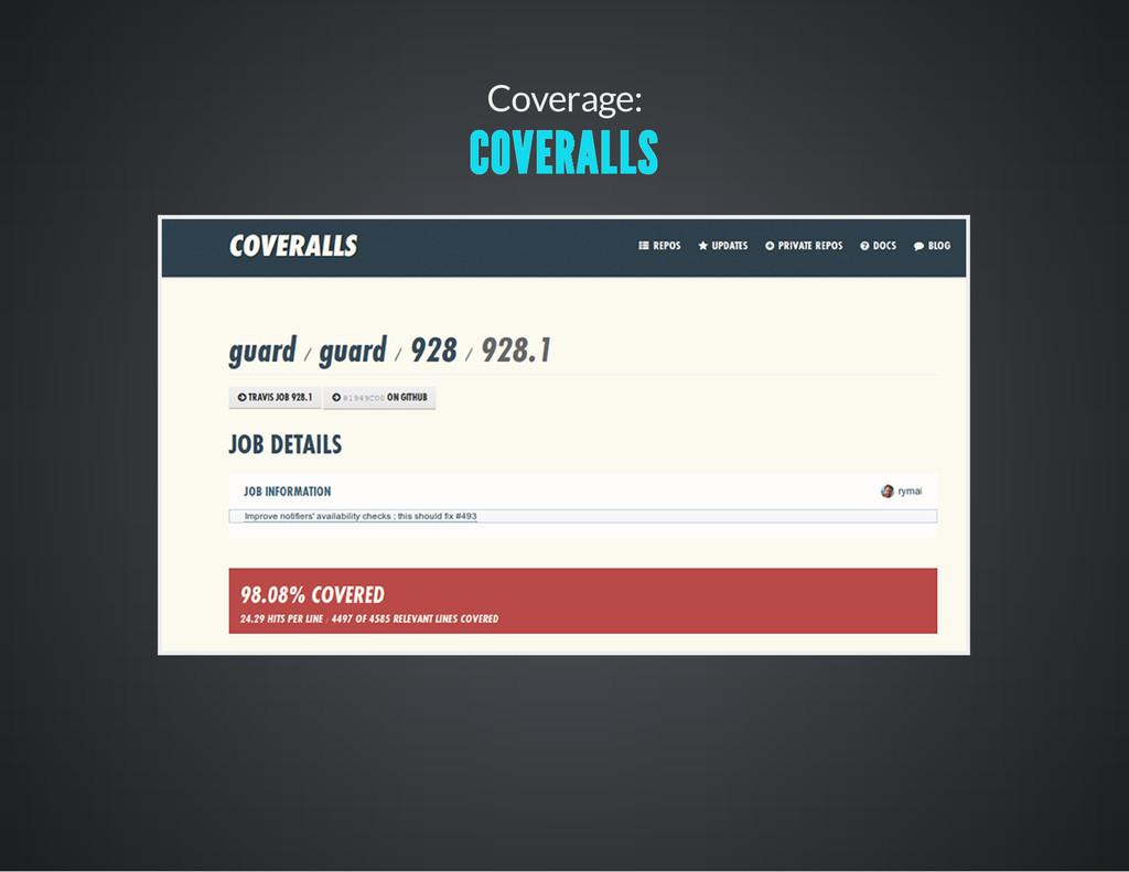 Coverage: COVERALLS