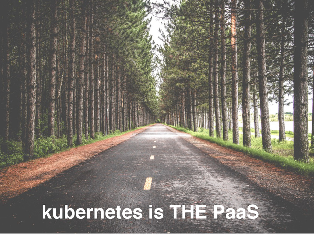 kubernetes is THE PaaS
